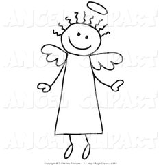 Juggling gallery for angel. Angels clipart stick figure