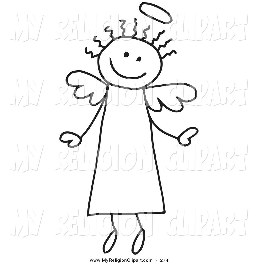 Religion clip art of. Angels clipart stick figure