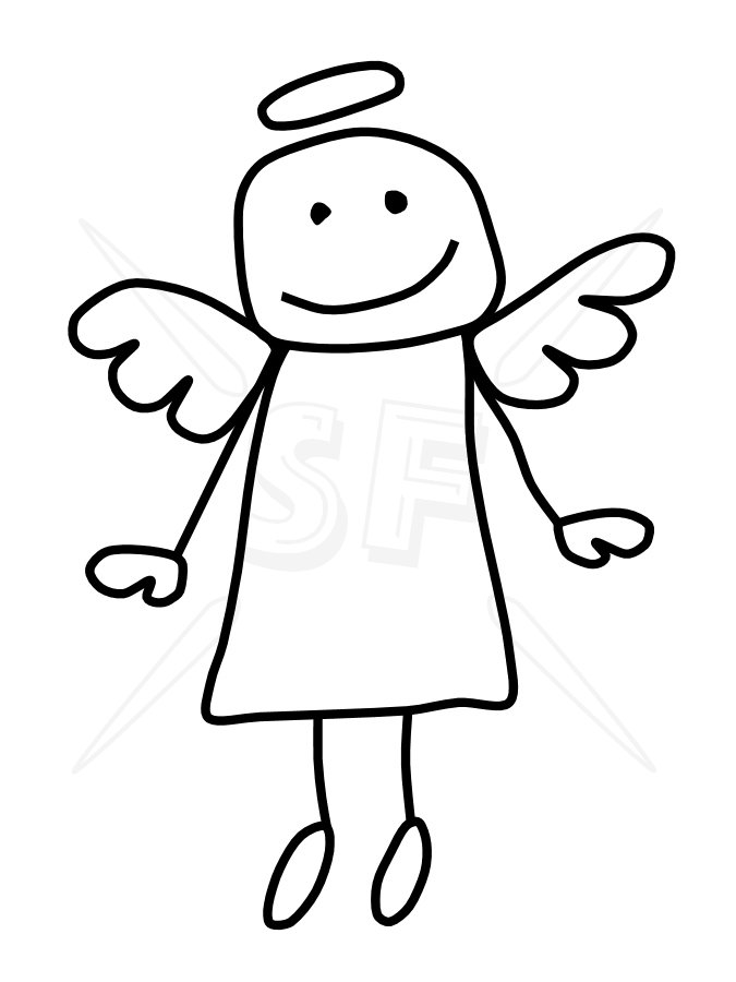 Angels clipart stick figure. Angel figures clip art