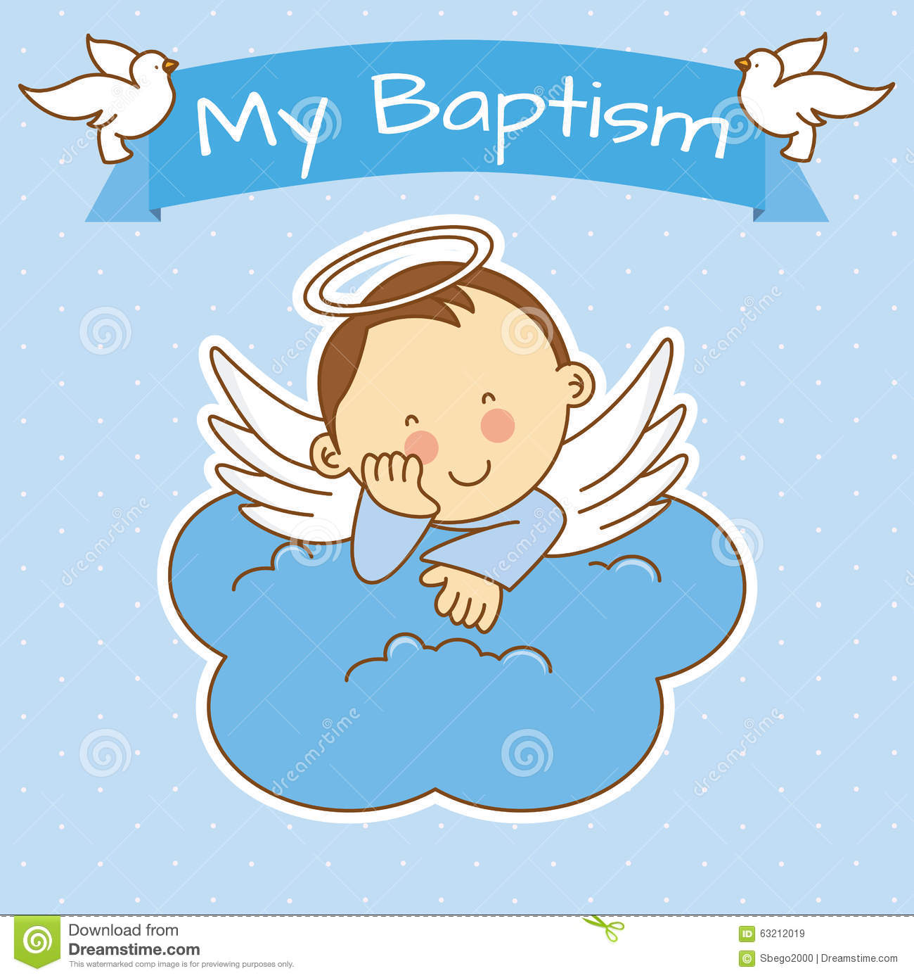 Angel baby boy little. Bowl clipart baptism