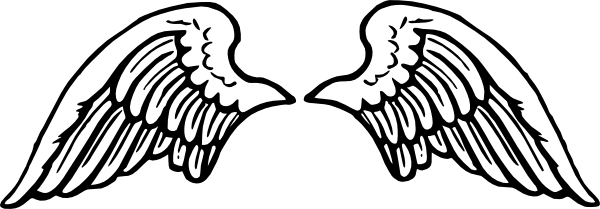 wing clip black. Angel wings vector png
