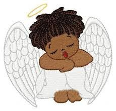 Angel google search watching. Angels clipart african american