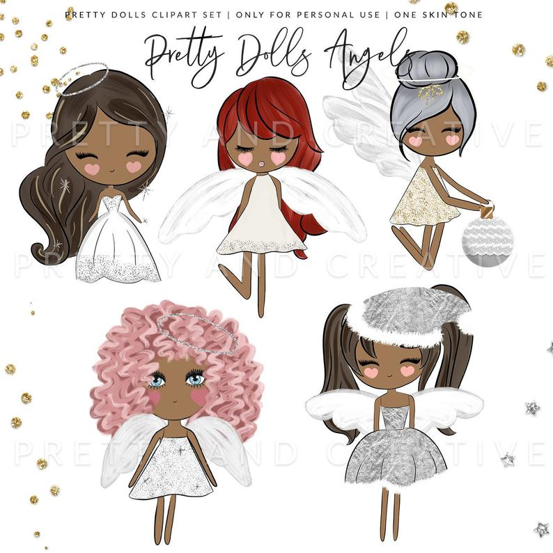 Christmas cute angel wings. Angels clipart angle