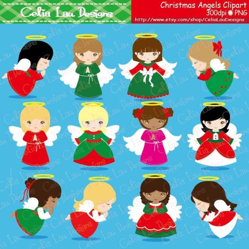 Christmas digital angel clip. Angels clipart angle