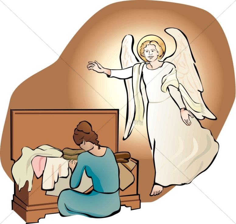 Angels clipart archangel gabriel. An angel visits mary
