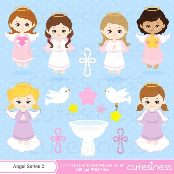 Angel station . Baptism clipart baby girl