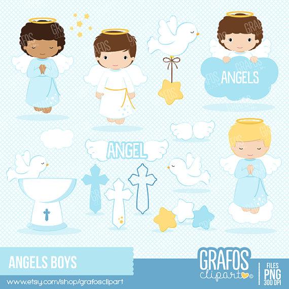 Boys digital set ilxn. Angels clipart baptism