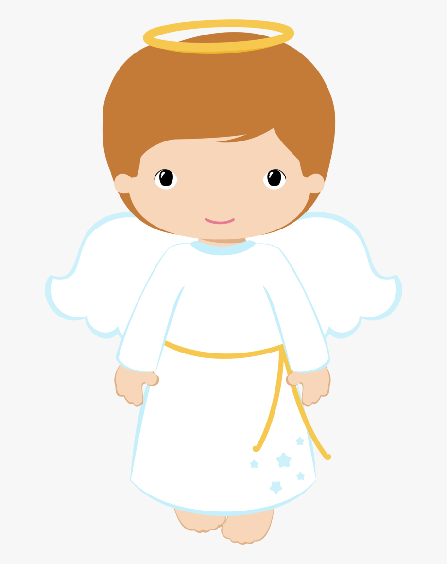Angels clipart child. Boy angel and girl