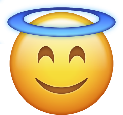 Angel clipart transparent background. Halo emoji png icon