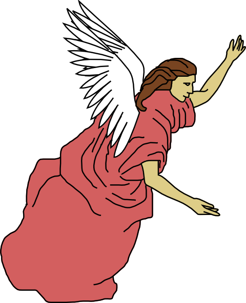 Angel wings free clip. Angels clipart colorful