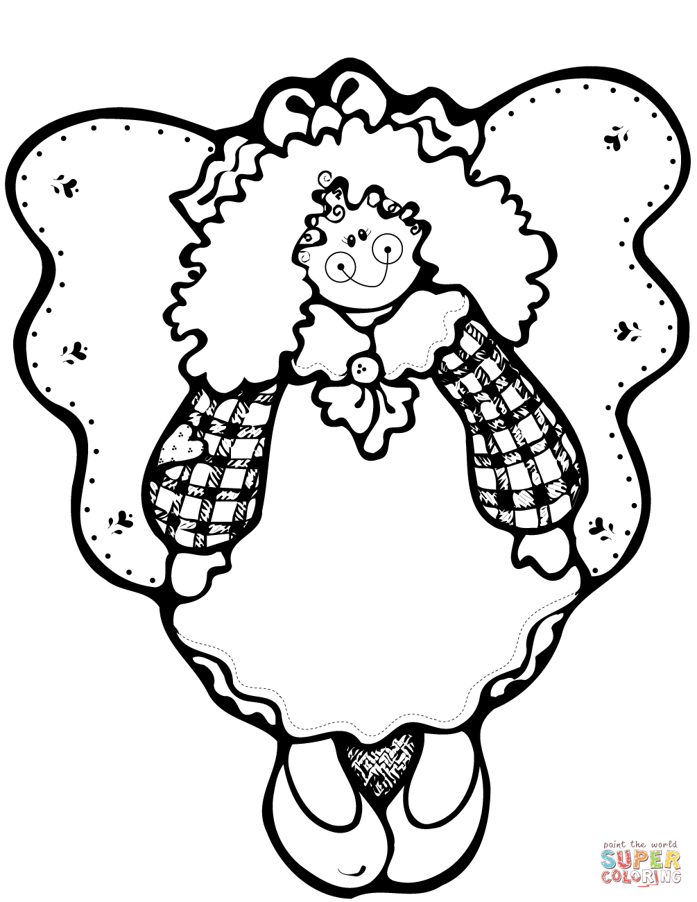 angels clipart coloring page, angels coloring page