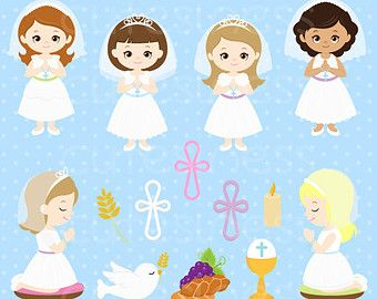 Angels clipart first communion. Boy digital and papers