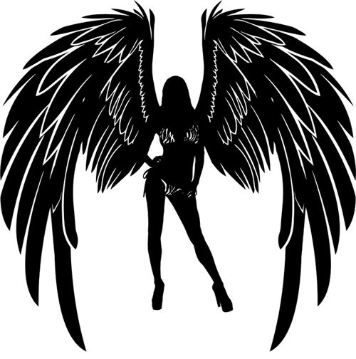 Silhouette images collection sexy. Angels clipart guardian angel