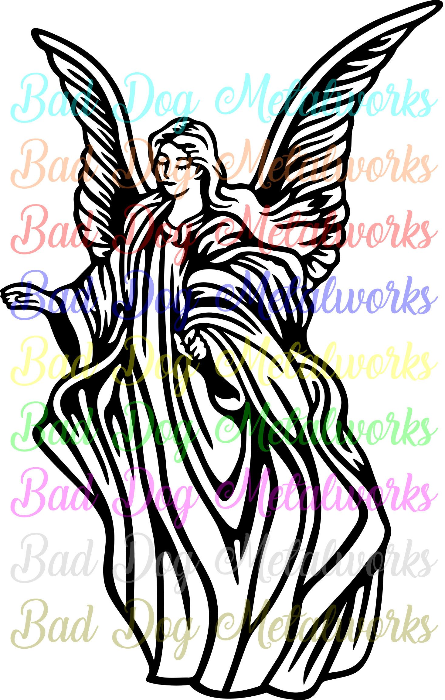 Angels clipart guardian angel. Svg dxf vector art