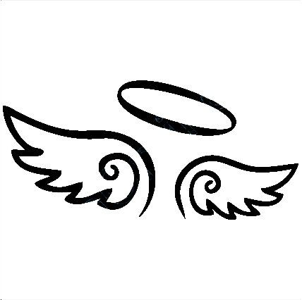 Halo clipart decal. Angel wings with angels