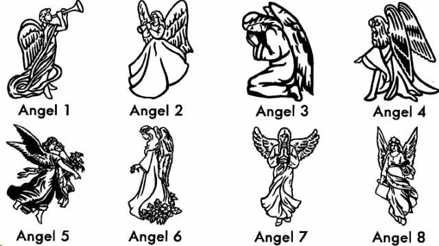 Emblems designs angel memorials. Angels clipart headstone