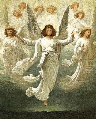 best vintage cards. Angels clipart host