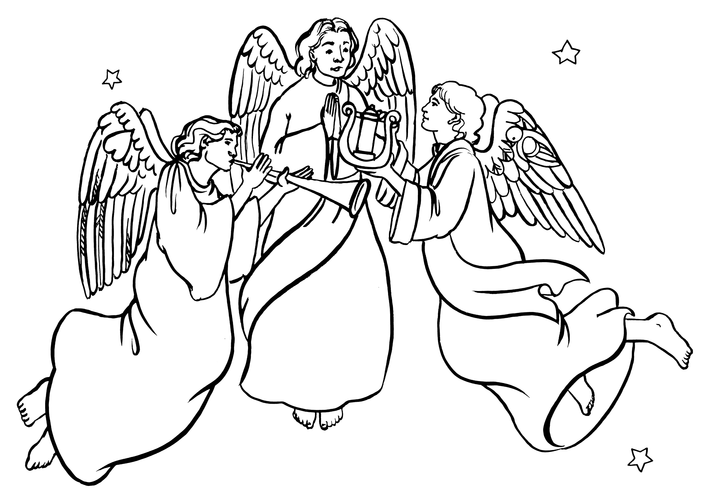 heavenly host of angels coloring pages | Angels clipart host, Angels host Transparent FREE for ...