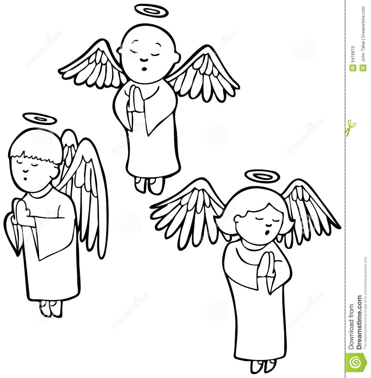 Christmas angels singing Colouring Page | MummyPages.ie | 1300x1275