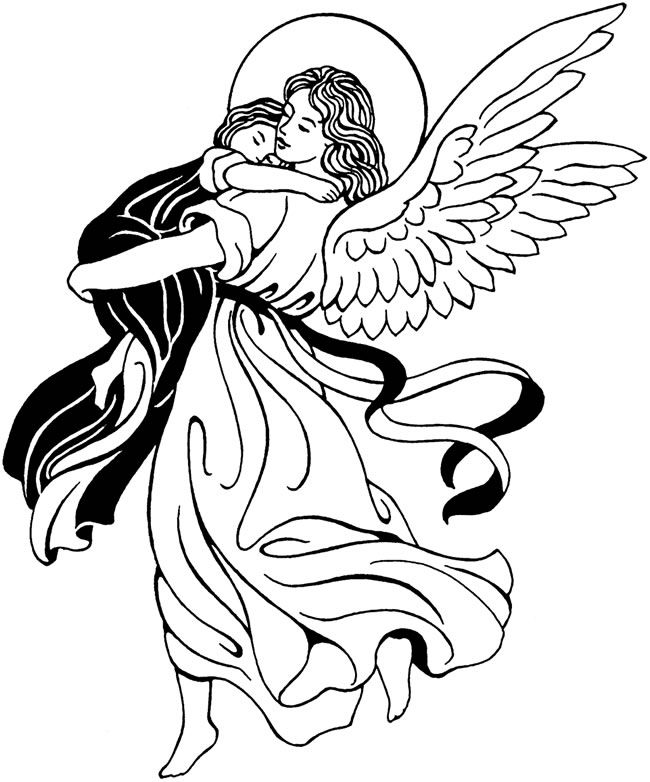 Angels clipart line art. Angel free download best