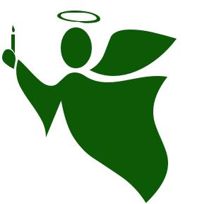Free public domain clip. Christmas clipart angel