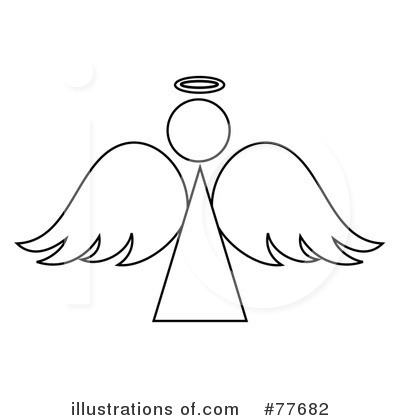 Angel illustration by pams. Angels clipart outline