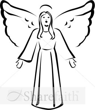 Angels Clipart Outline Angels Outline Transparent Free For Download On Webstockreview 2020