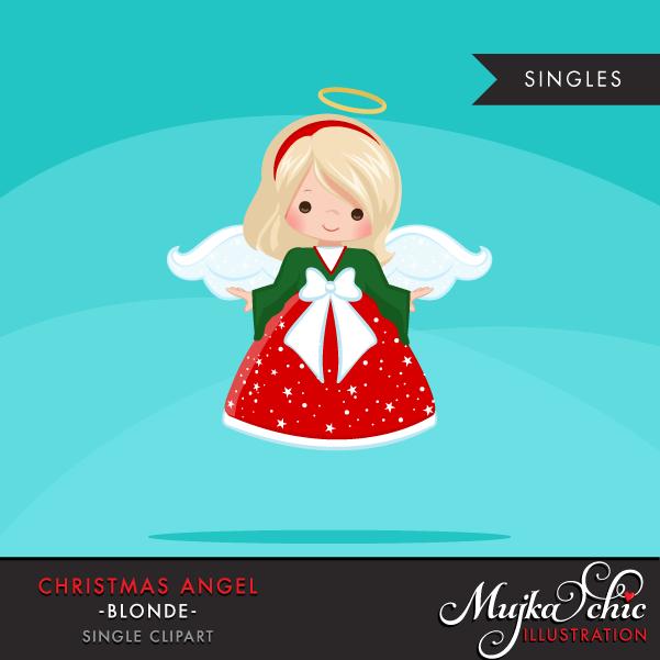 Christmas angel blonde mujka. Angels clipart printable