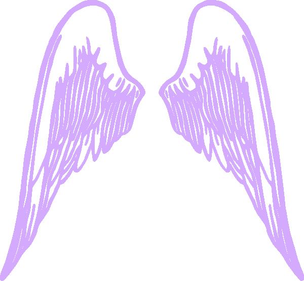 Wing clipart angel wing. Purple wings clip art