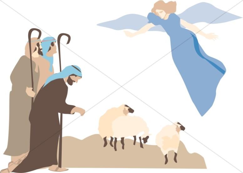 Angels shepherd