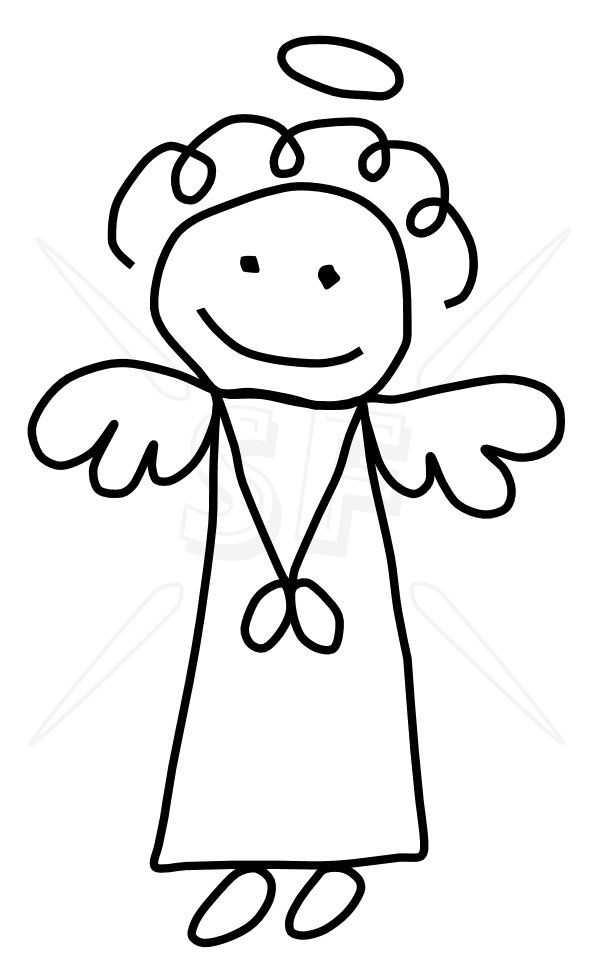 Angels clipart stick figure. Click to close people