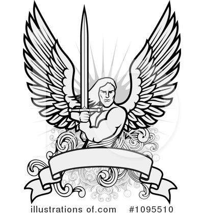 Angel illustration by bestvector. Angels clipart warrior
