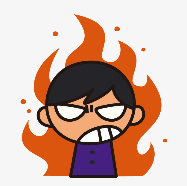 Angry clipart. Cartoon boy anger png