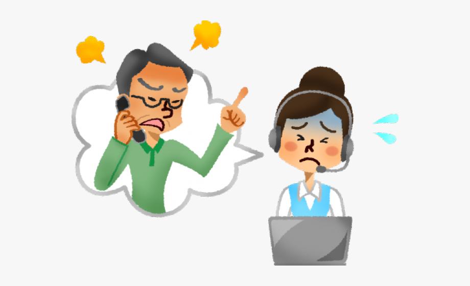 Anger clipart aggressive person. Complainer cliente enojado call