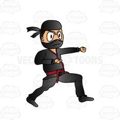 Anger clipart aggressive person. Angry ninja warrior cartoon