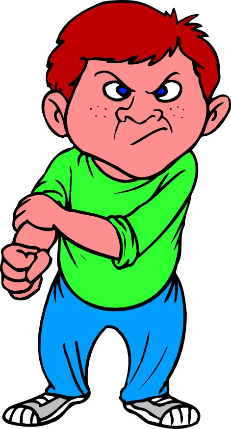 Bully clipart bad kid.  collection of aggressive