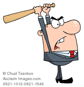 Anger clipart angry. An businessman lifting a