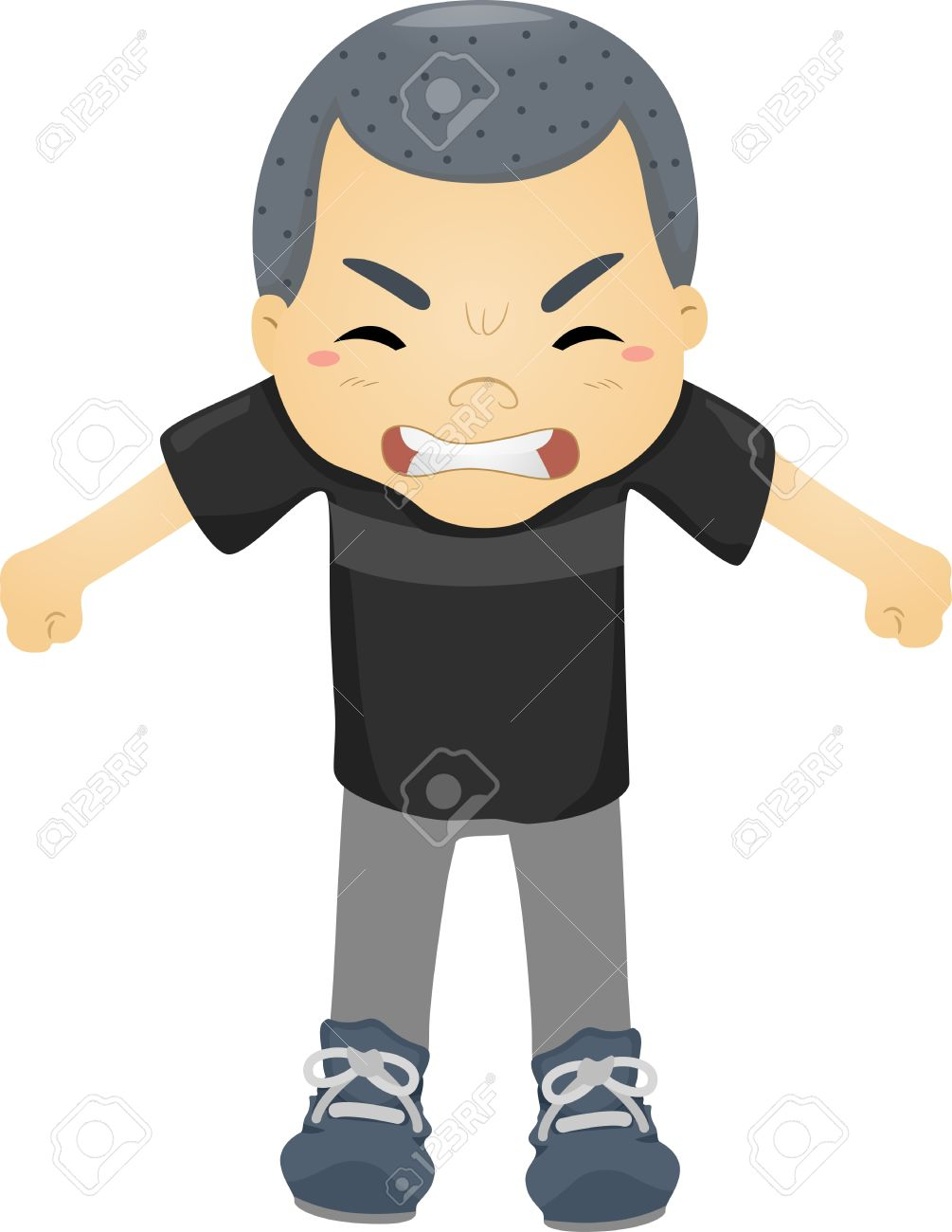 Anger clipart angry boy. Mad child collection illustration