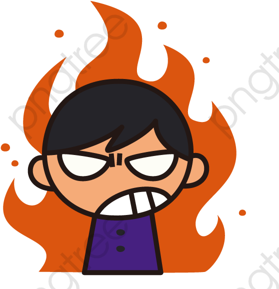 Anger clipart angry boy. Cartoon png