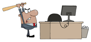 Image mad office worker. Anger clipart angry businessman