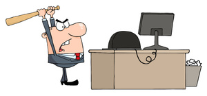 Image upset office worker. Anger clipart angry businessman