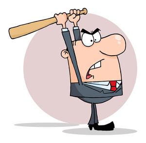 Anger image angry office. Boss clipart baseball