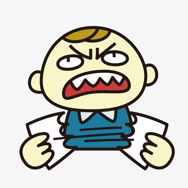 Angry clipart angry child. Anger children cartoon png