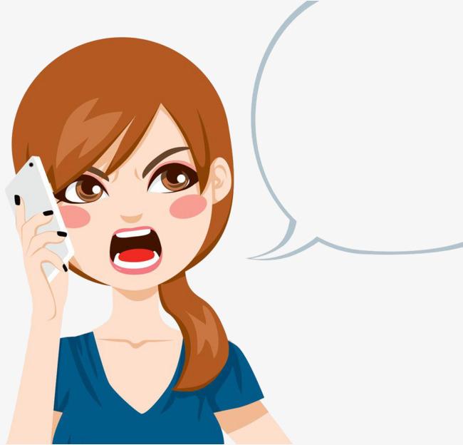 Make a phone call. Anger clipart angry customer
