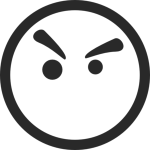 anger clipart angry face