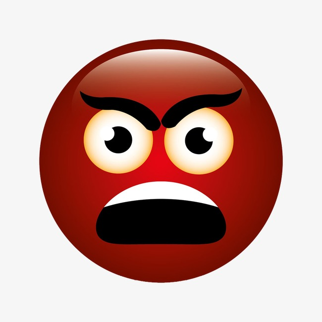 Anger clipart angry face. Red cartoon expression png