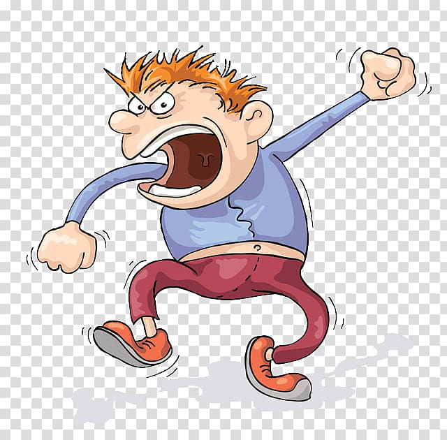 Anger clipart angry man. Animated screaming cartoon