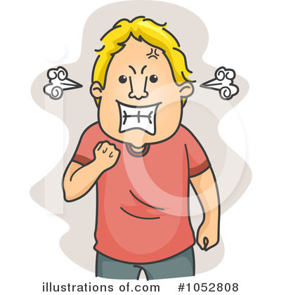 anger clipart angry man
