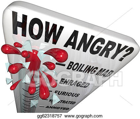 Stock illustrations how thermometer. Angry clipart furious