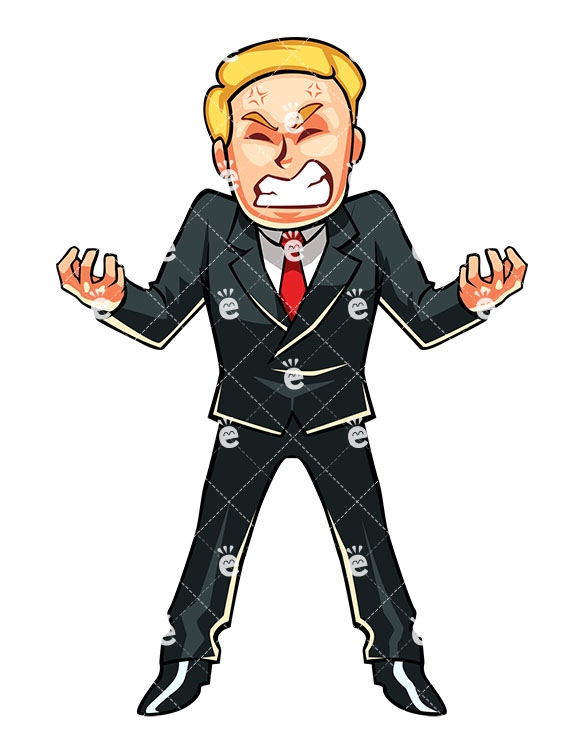 Annoying business man in. Anger clipart angry person